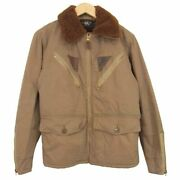 Rrl Marshall A-2 Sports Flight Jacet Mouton Collar Size Xs Brown