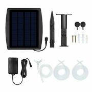 Outdoor Pond Fish Tank Solar Water Air Pump Oxygenator Portable Silent Accessory