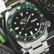 Seiko 5 Sports Automatic Stainless Steel The Incredible Hulk Srpd55k1m3 Men's Wa