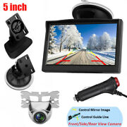 5 Inch High-resolution Color Tft Lcd Monitor Backup Camera Front/rear/side View