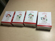 2013 Hallmark Ornaments Let It Snow Collection Of 4 S N O W Snowmen