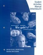 Wie Geht's An Introductory German Course, Paperback By Sevin, Dieter Sevi...