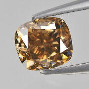 Champagne Diamond 0.78 Cts Cushion Cut Fancy Untreated Top Luster See Video