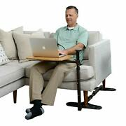 Omni Tray Table Adjustable Bamboo Swivel Tv And Laptop Table W/ Ergonomic Stand
