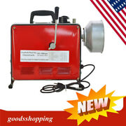 Electric Power Machine Auger Cable Drain Clog Cleaner Snake Pipe Sewer 66ft. New