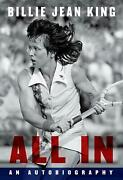 All In An Autobiography By Billie Jean King English Hardcover Book Free Shipp