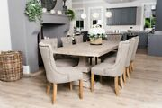 Large Pedestal Base Oak Table In Multiple Colours And Sizes