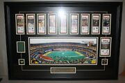 Three Rivers Stadium- Last Game Tickets And Authentic Turf Professionally Framed
