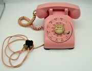 Rare Bell Western Electric Pink Rotary Desk Telephone Cd500 Free Shipping