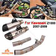 For Kawasaki Z1000 2007-2009 Exhaust System 51mm Muffler Tail Tube Mid Link Pipe