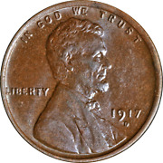 1917-d Lincoln Cent Choice Bu Superb Eye Appeal Strong Strike