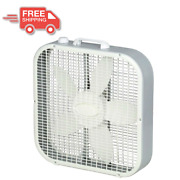 Box Fan 20 Portable 3 Speed Floor Cooling Electric Energy Efficient White New