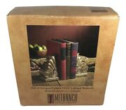 Melannco The Keeper Of Memories Pair Of Antiqued Golden Finish Bookends
