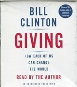Bill Clinton Giving How Each Of Us Can Change The World Audiobook Cd New