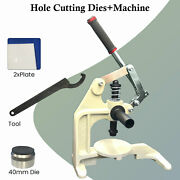 30mm-50mm Hole Punch Dies With Hand Press Machine Tools For Fabric Leather Paper