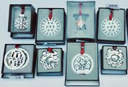 Set Of 8 Silverplate Christofle Christmas Ornaments In Various Shapes And Sizes