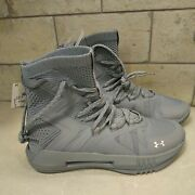 Under Armour Ladies Size 7 Ua Highlight Ace 2.0 Volleyball Shoes Gray High Tops