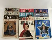 12 Vintage Ladies Home Journal And Mccalls Magazines 50s-60s