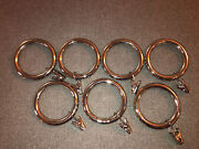 Pottery Barn Polished Nickel Clip Rings Large 1.75 Set Of 7