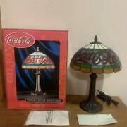 Coca Cola Style Night Light Used Stained Glass Rare Vintage 100v Jn