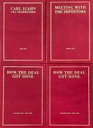 4 Vol Carl Icahn, Meeting With Imposters, History Twa Airlines Commemorative Set