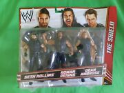 Wwe Fan Central The Shield 3-pack Figure K-mart Exclusive Rollins Reigns Ambrose