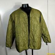 1985 Us Army Vintage M-65 Us Field Liner Coat Mens Size Xl Military Nato