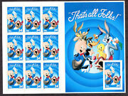 Porky Pig That's All Folks Loony Tunes 3535 One Stamp Imperforated
