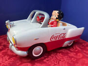 Very Rare  Betty Boop And Pudgy In Coca-cola Car Cookie Jar - Very Large