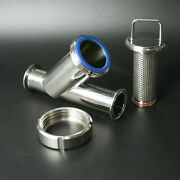 2-1/2and039and039 Y-type Food Sanitary Strainer Filter Quick Installation High Flow Filter