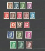 Ww2 Nazi Collection Stamp Lot Adolph Hitler Heads And Swastikas 1941-4 Mint Nh