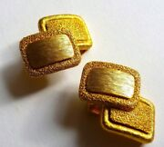 Vintage Orena Paris Clip On Earrings French Costume Jewelry