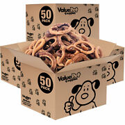 New- Valuebull Usa Bully Stick Rings For Dogs, 3-4 Inch, Odor Free, 200 Count