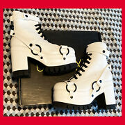 New Club Exx Dolls Kill Moonscape Mirage Platform Boots Us 11 - Sold Out Goth