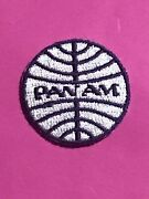 Small 1 1/2andrdquo Uniform Pan Am Airlines Vintage Embroidered Patch