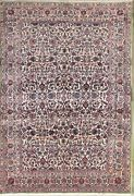 Antique Vegetable Dye Kirman Area Rug Hand-knotted Floral Oriental Carpet 7and039x10and039