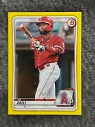 2020 Topps Bowman Jo Adell Rc Canary Yellow 26/75 🔥