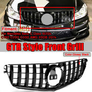 Panamericana Front Grille Grill Amg Gt Style For Mercedes W204 C Class 2008-2014