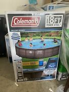 New - Coleman Power Steel Frame 18ft X 48in Above Ground Pool Set Local Only
