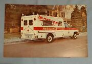 Vintage Large 8.5 By 5.5/8 Postcard Swab Ambulance And Rescue Equipment Chevy