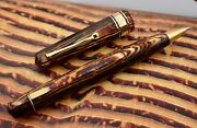 Omas Paragon Old Style Extra Arco Brown Bronze Celluloid Rollerball Pen Rb