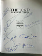 The Ford That Beat Ferrari Book Leather Bound Le 2005 Signed By 7 Gt40 Drivers