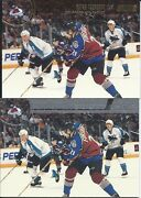 Peter Forsberg 2002-03 Topps Stadium Club Base And Sp Silver Decoy Cards 46