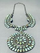 One Of The Best Ever Vintage Navajo Royston Turquoise Sterling Silver Necklace