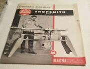 Vintage Shopsmith Owners Manual 1955 Mark 5 Magna Power Tool Corporation Rare