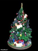 Rare Danbury Mint Scottish Terrier Christmas Tree Collectible With Lights And Cord
