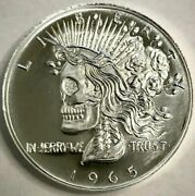 Grateful Dead 1oz Fine Silver Round Ron Landis Peace Dollar Hoghly Collectible