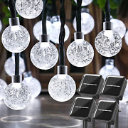4-pack 128ft 240 Led Solar String Lights Outdoor Waterproof Crystal Globe Fairy