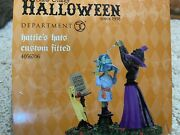 New Dept 56 Hattieand039s Hats Custom Fitted 4056706 Halloween Witch Hollow