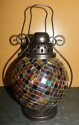 Partylite Lantern Global Fusion Mosaic Candle Holder Home Decor